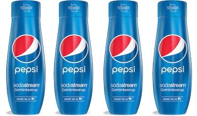 SodaStream Getränke-Sirup, Pepsi Cola, (4 Flaschen), für bis zu 9 Liter Fertiggetränk kaufen