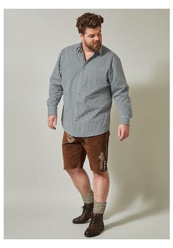 Men Plus by Happy Size Karohemd im Trachten - Look kaufen