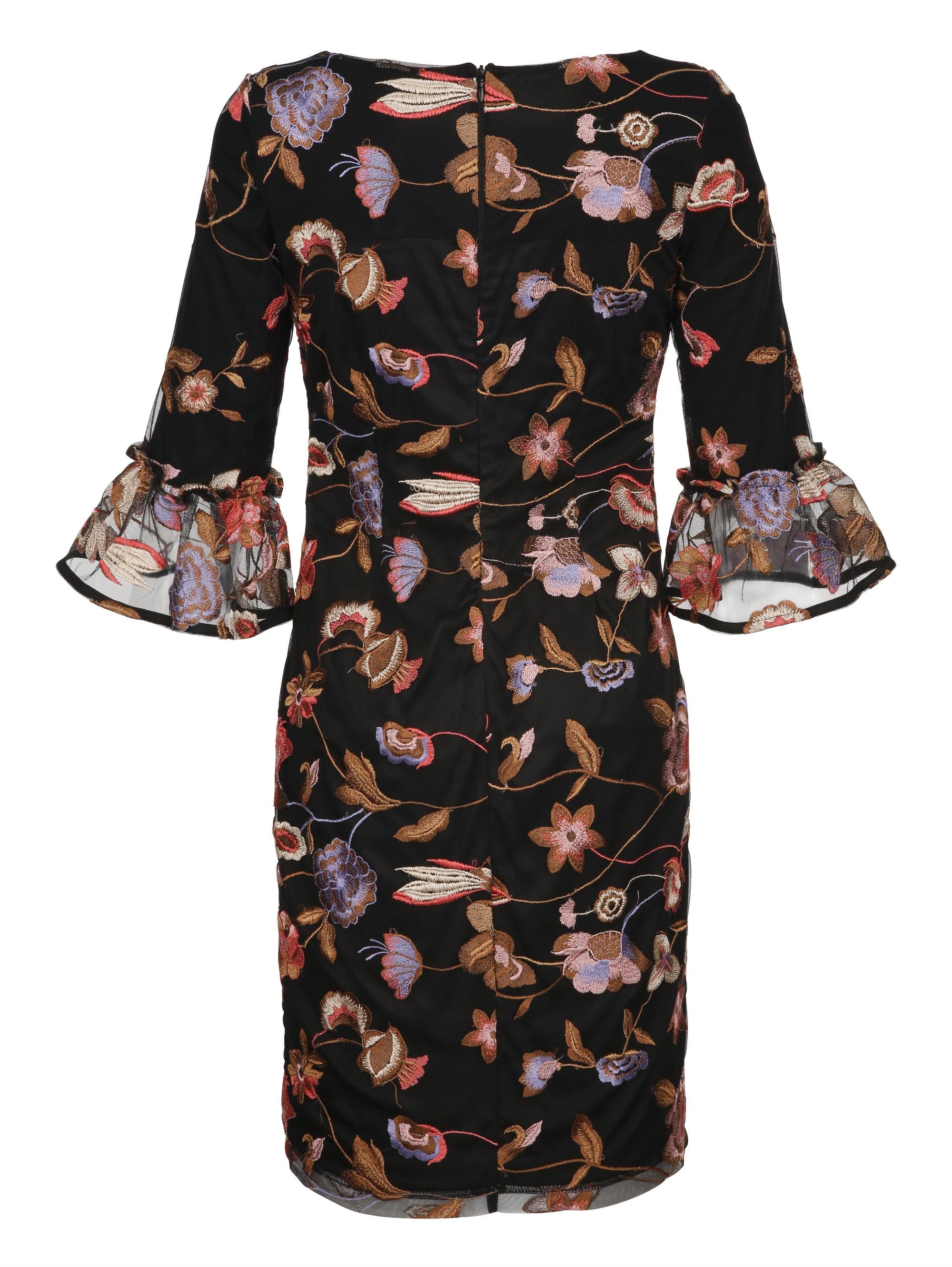 Alba Moda Kleid Meshkleid mit floraler Stickerei