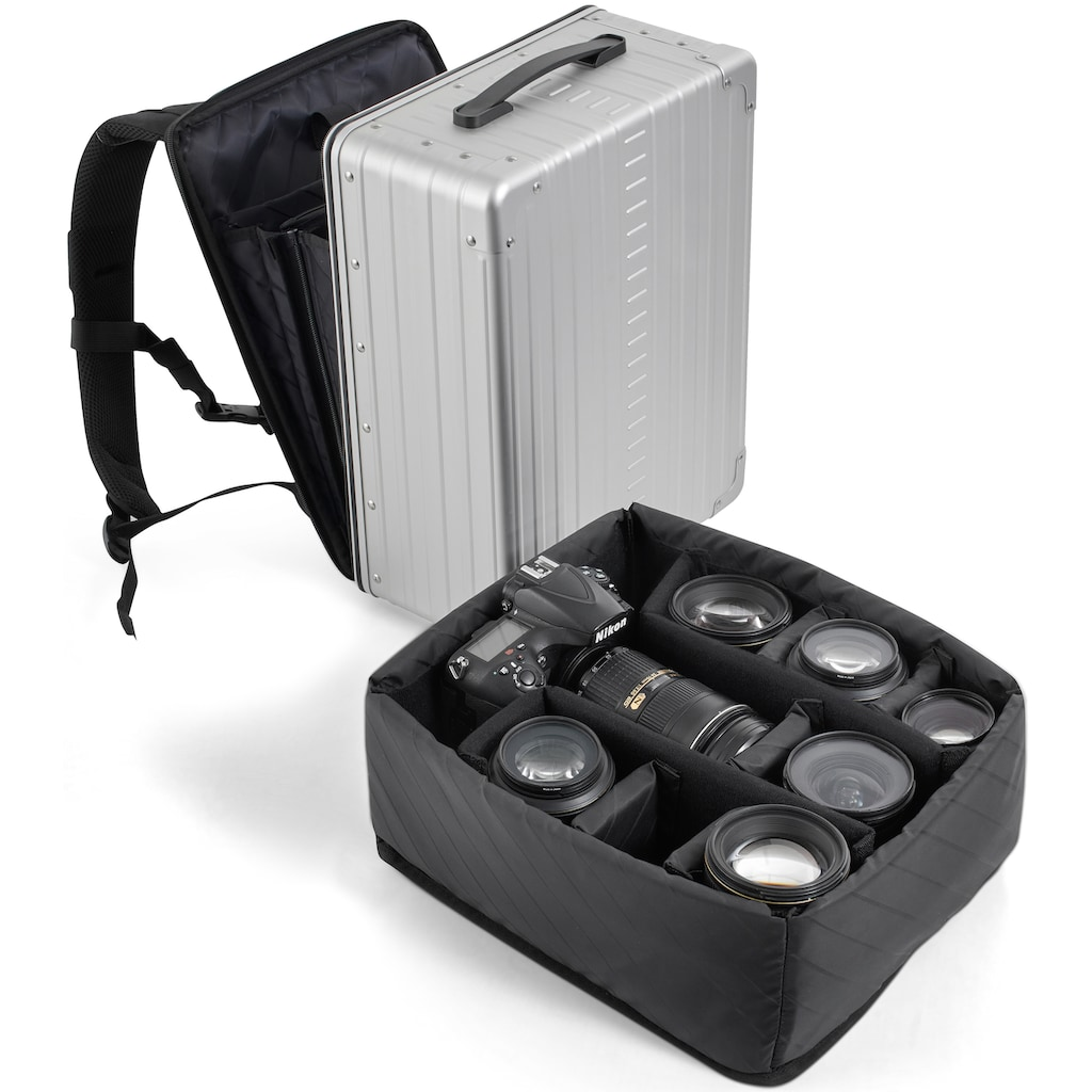 "ALEON Fototasche »Camera Cube, 17 ""«, Einsatz für den Aleon Aluminium-Kofferrucksack »Backpack, 17 Zoll«"