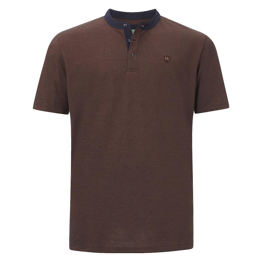 Charles Colby T-Shirt »EARL DEREK«, mit farbigem Kragen