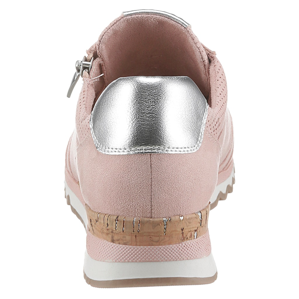 MARCO TOZZI Sneaker, mit Metallic-Details