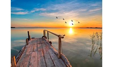Papermoon Fototapete »Sunset Pier« kaufen