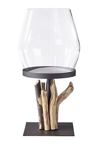 Bodenwindlicht mit dekorativem Altholz kaufen