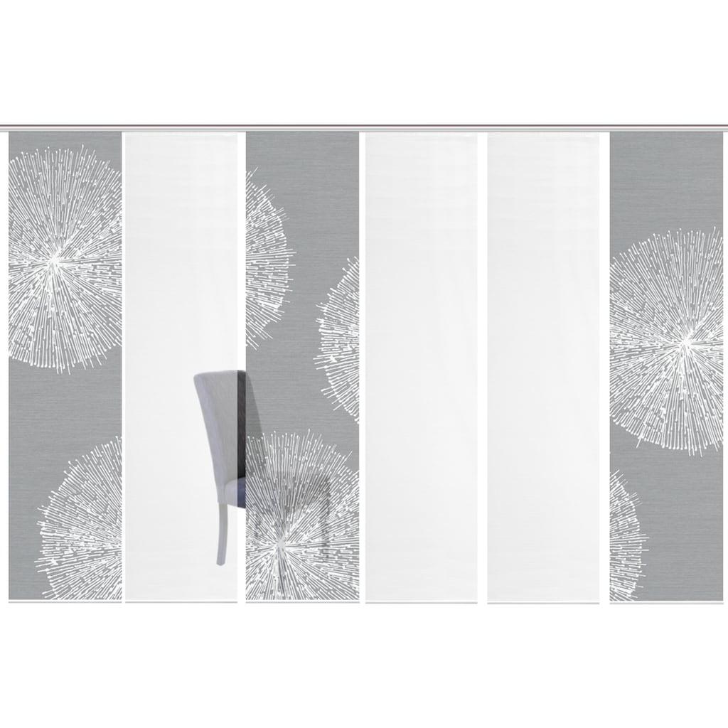 Vision S Schiebegardine »6ER SET CRESTON«, HxB: 260x60, Schiebevorhang 6er Set Digitaldruck