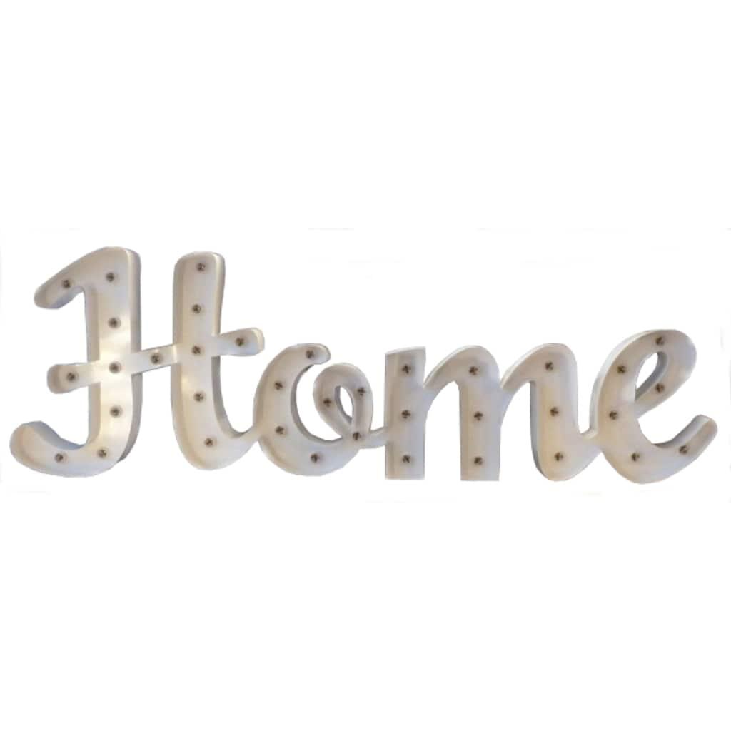 MARQUEE LIGHTS LED Dekolicht »HOME Schriftzug«, E14, 1 St., Warmweiß, Wandlampe, Tischlampe HOME mit 37 festverbauten LEDs - 80cm Breit und 61cm hoch