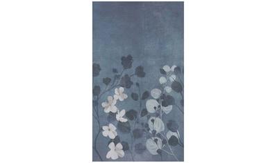Bodenmeister Fototapete »Betonwand Blumen blau« kaufen