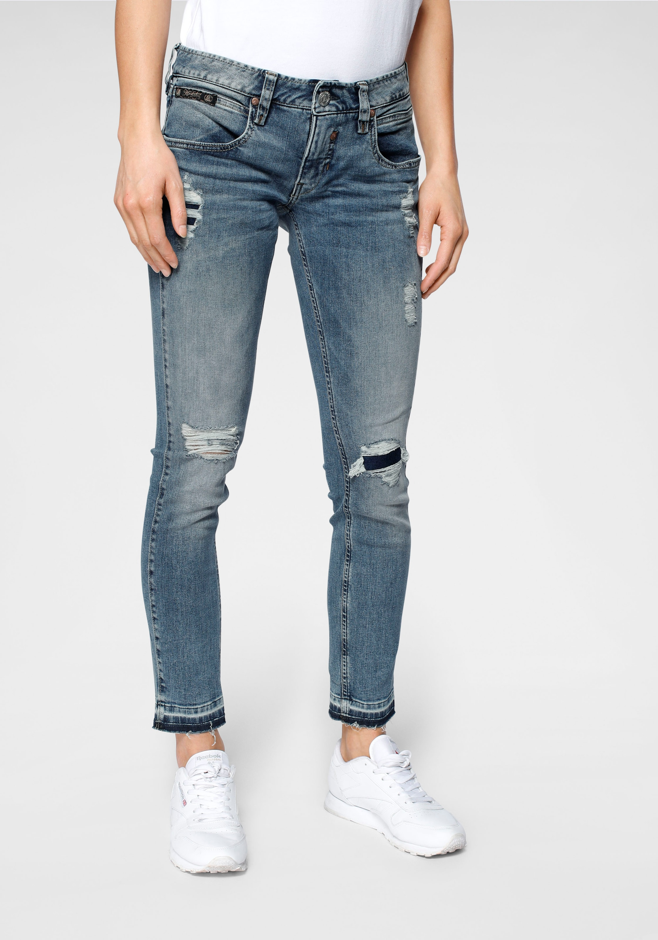 herrlicher 78jeans touch cropped Destroyed Stretch Jeans \