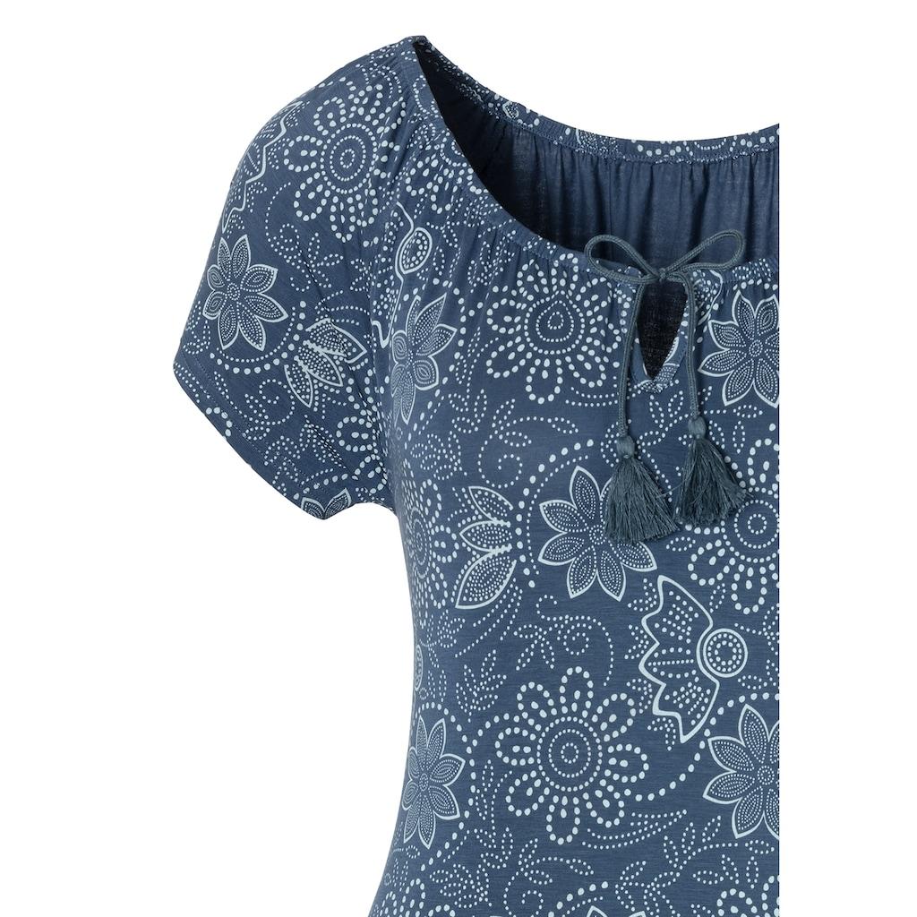LASCANA T-Shirt, mit leicht gerafftem Ausschnitt