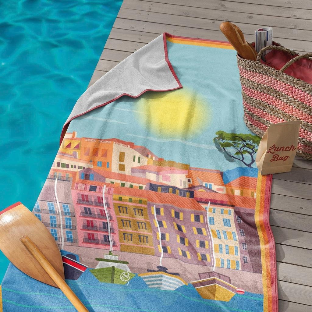 Seahorse Strandtuch »Riviéra«, (1 St.), mit Côte d'Azur Aufdruck
