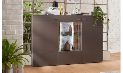 set one by Musterring Highboard »TACOMA«, Typ 52, Breite 180 cm, mit getönter Glastür kaufen