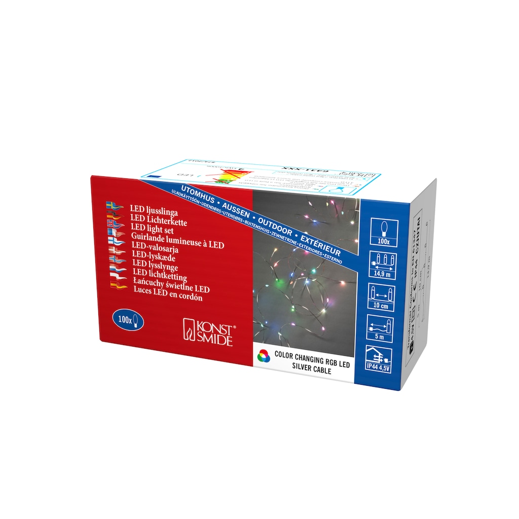 KONSTSMIDE Micro LED Lichterkette, mit Farbwechsel