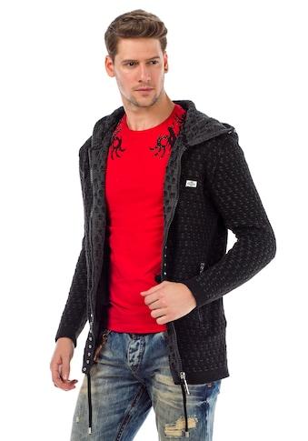 Cipo & Baxx Strickjacke, mit Kapuze kaufen