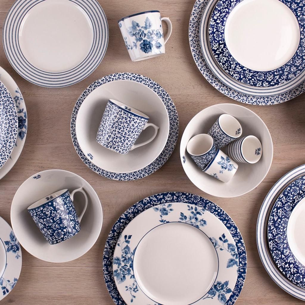 LAURA ASHLEY BLUEPRINT COLLECTABLES Geschirr-Set »Mix Designs China Rose, Sweet Allysum, Floris und Candy Stripe.«, (Set, 24 tlg.)