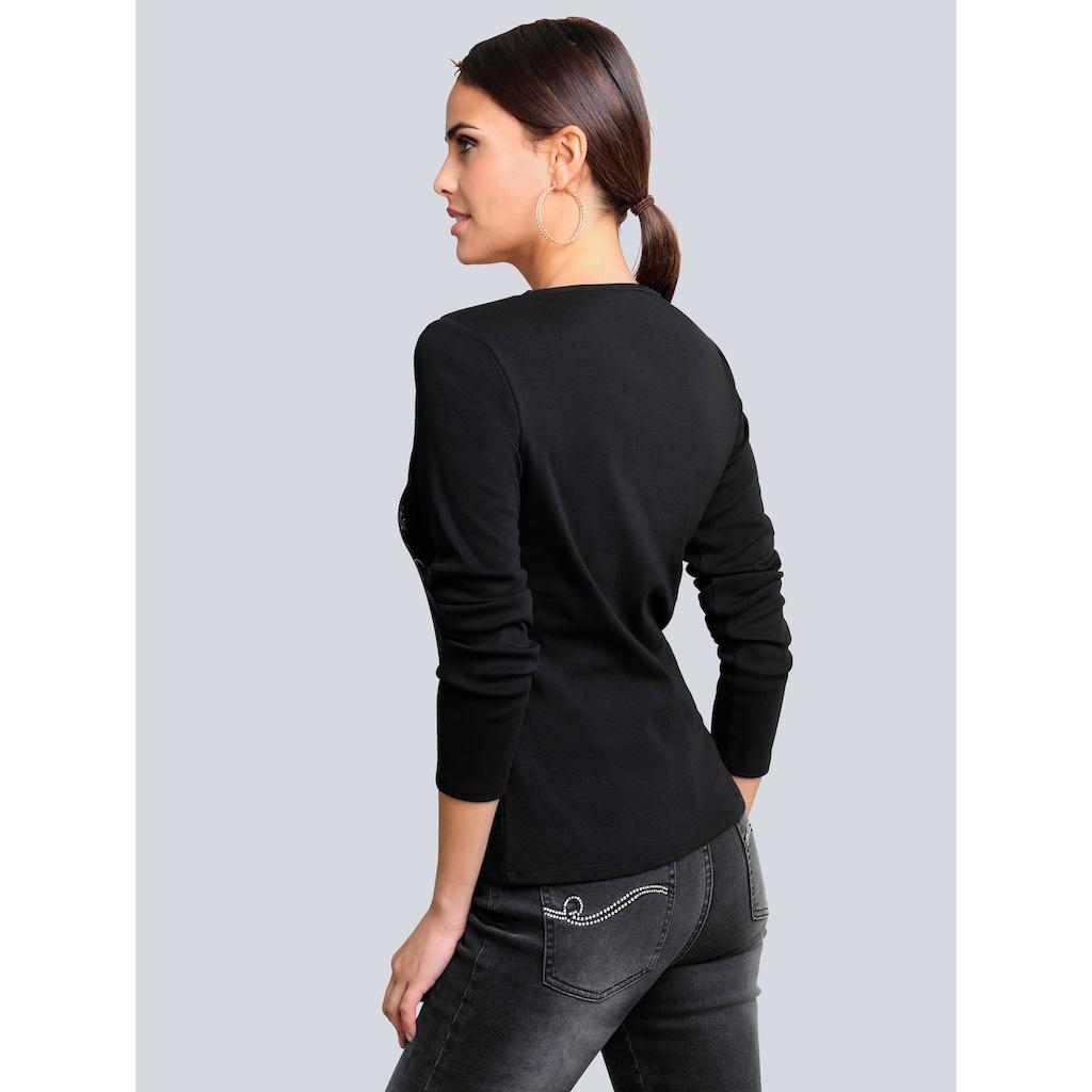 Alba Moda Print-Shirt, in modischer Patch-Optik