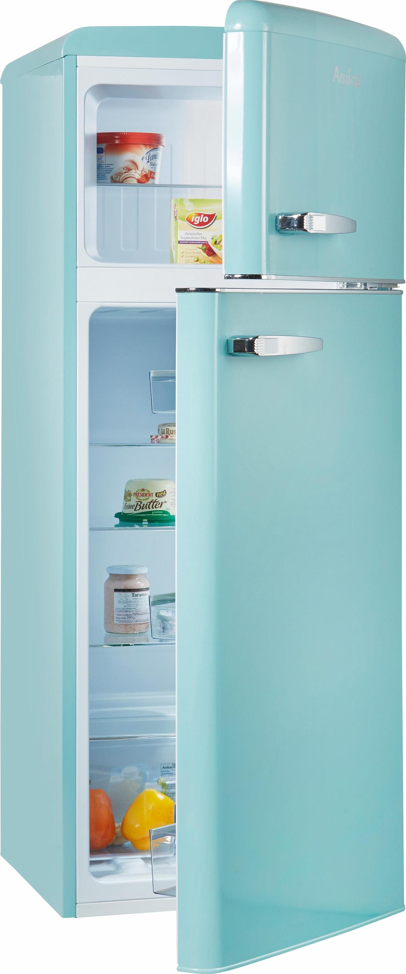 Amica Retro Kühlschrank Hellblau : Amica retro kühlschrank beige retro kühlschränke auf rechnung