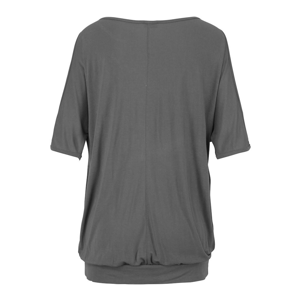 LASCANA Strandshirt, mit Schlitzen an den Schultern
