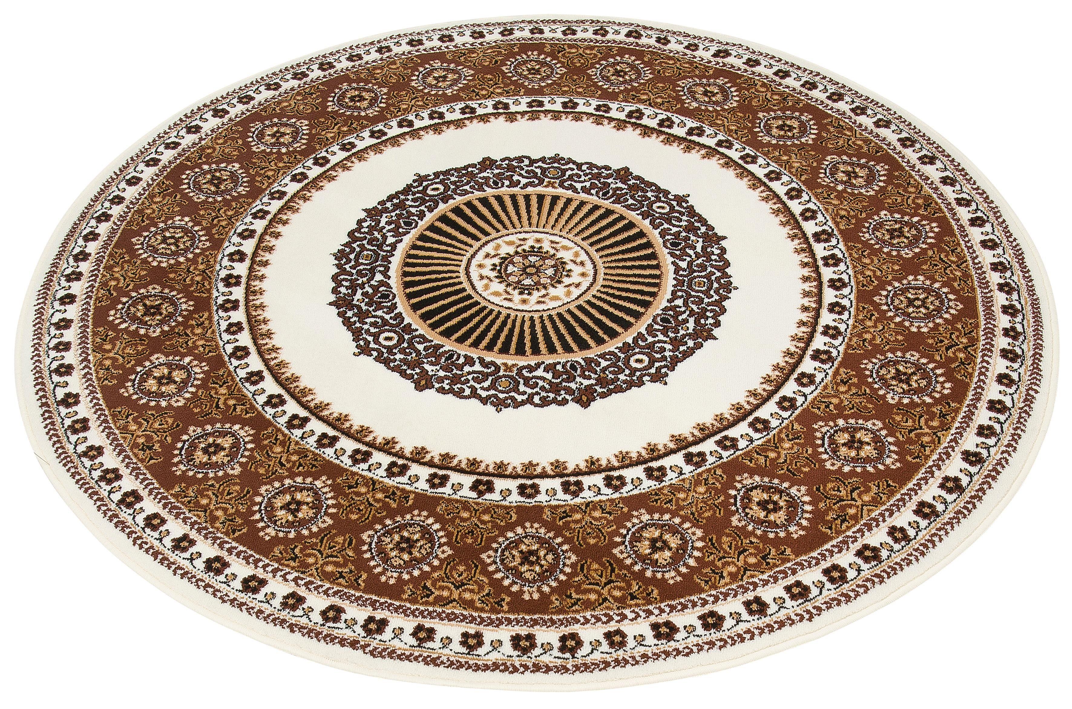 Teppich Shari DELAVITA rund Höhe 7 mm maschinell gewebt