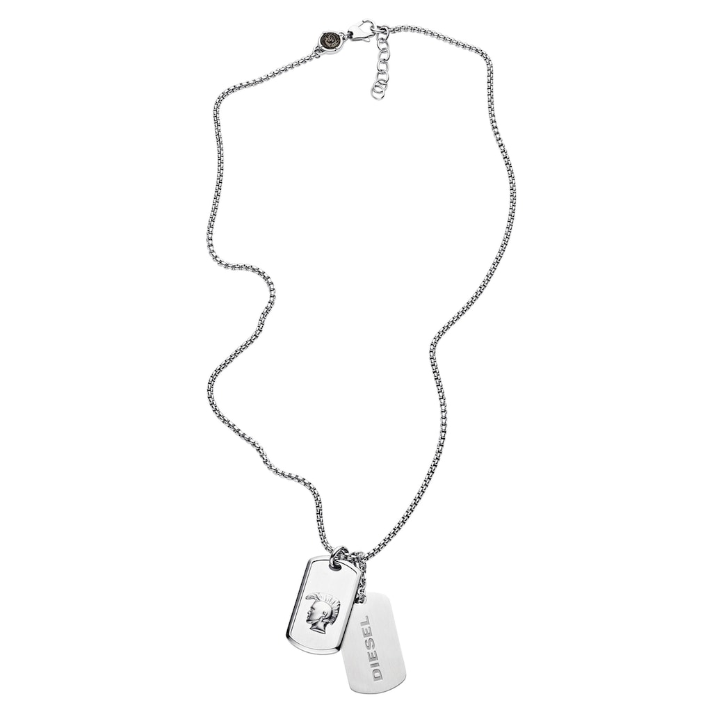 Diesel Kette mit Anhänger »MOHICAN - DOUBLE DOGTAGS, DX1210040«, (Set, 3 tlg.)