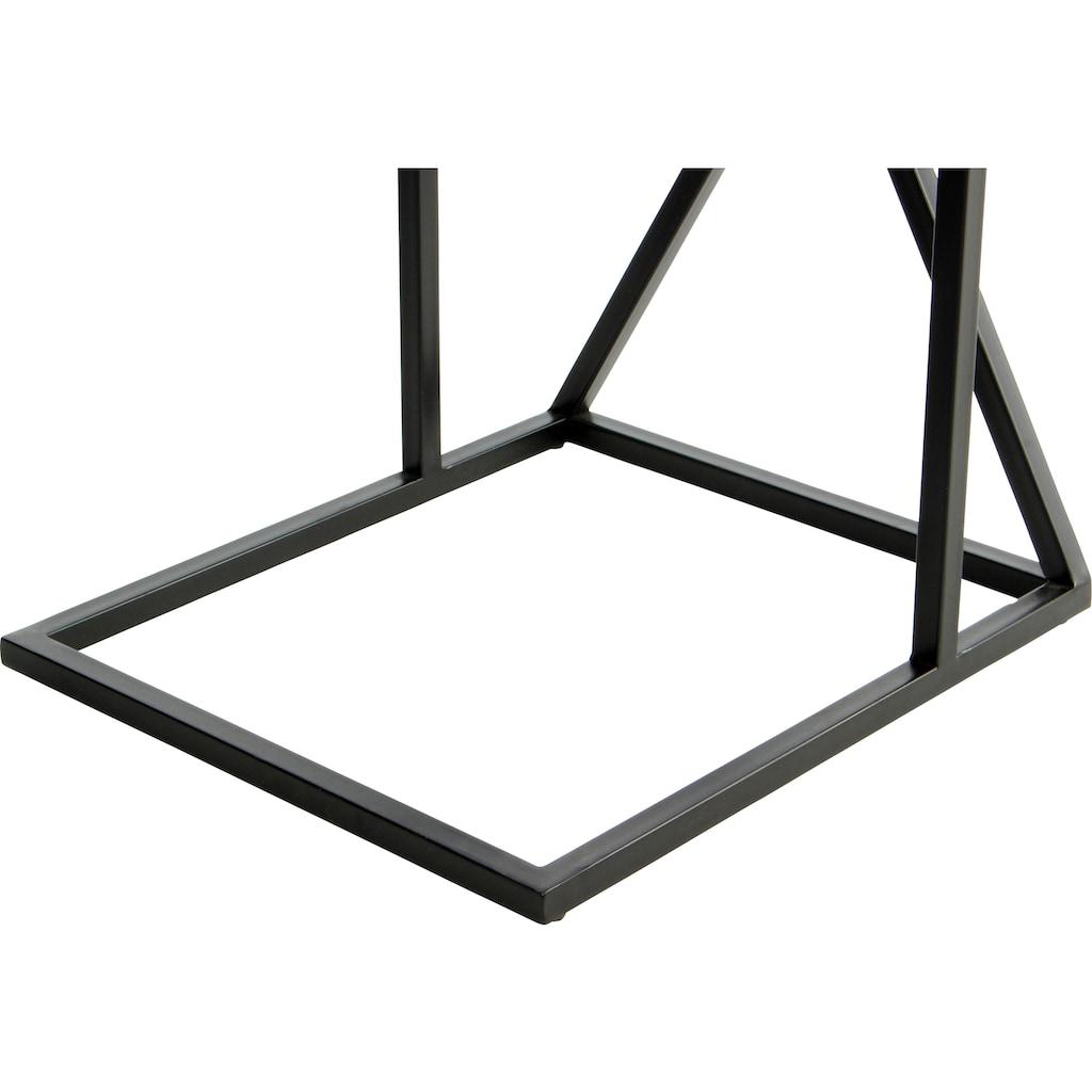 Kayoom Beistelltisch »Beistelltisch Louis 125«, Marmor-Tischplatte