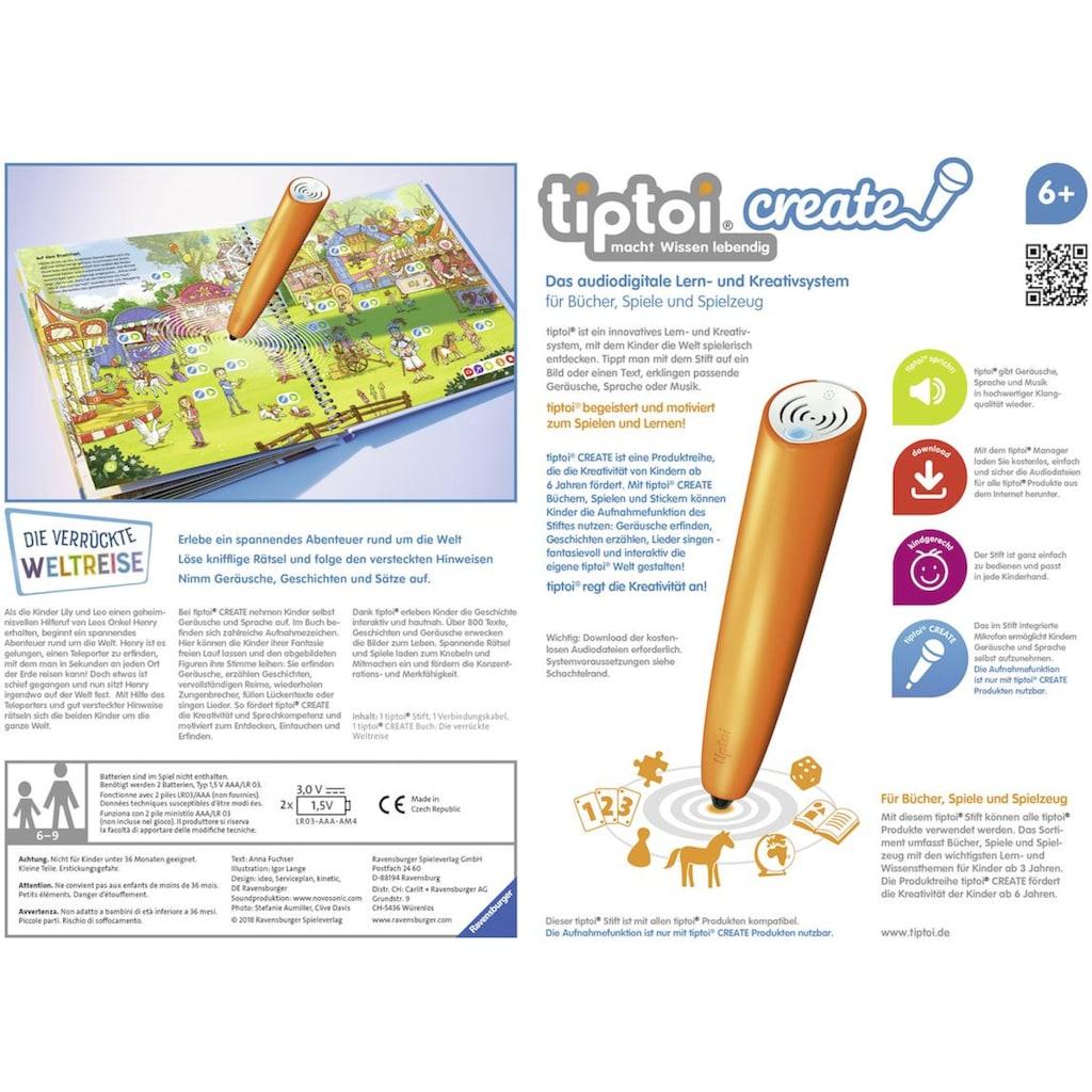 Ravensburger Spiel »tiptoi® Starter-Set: Die verrückte Weltreise«, mit CREATE Stift; Made in Europe, FSC® - schützt Wald - weltweit