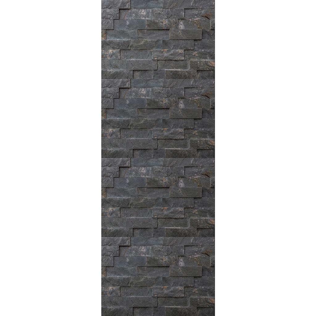 queence Vinyltapete »Chas«, Steinoptik, 90 x 250 cm, selbstklebend