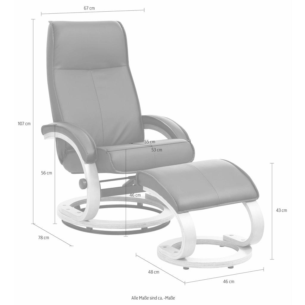Home affaire Relaxsessel »Paris«, in unterschiedlichen Bezugs- und Farbvarianten, Sitzhöhe 46 cm