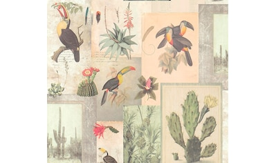 living walls Vliestapete »Authentic Walls«, matt-botanisch-Motiv-Antikoptik-tropisch, glatt kaufen