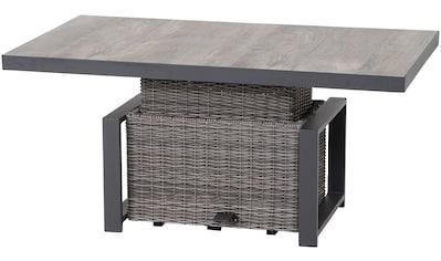 SIENA GARDEN Gartentisch »Corido«, Alu/Kunststoff, höhenverstellbar, 130x47/71 cm kaufen