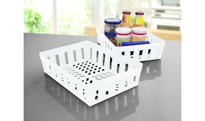Ruco Aufbewahrungskorb, (Set, 4 St.), für den Kühlschrank, Kunststoff kaufen