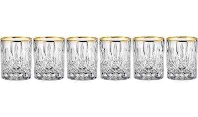Nachtmann Whiskyglas »Noblesse Gold edition«, (Set, 6 tlg.), mit veredeltem Goldrand,... kaufen