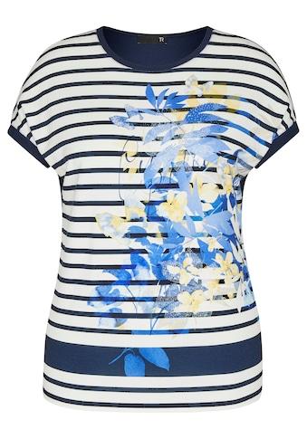 Thomas Rabe T-Shirt, mit gestreiftem Front-Print und Strass-Steinen kaufen