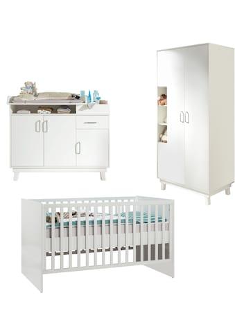 roba® Babyzimmer-Komplettset »Nordic, weiß«, (Set, 3 St.), mit Kinderbett,... kaufen