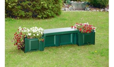 KHW Gartenbank »Berlin«, Kunststoff, 174x49x47 cm, grün kaufen