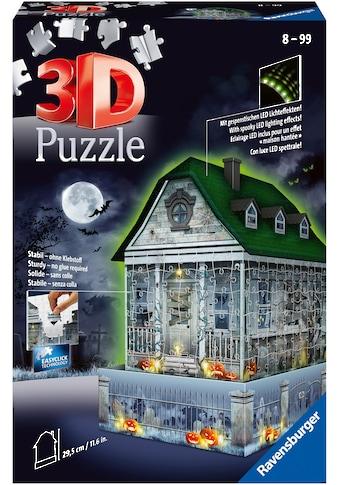 Ravensburger 3D-Puzzle »Gruselhaus bei Nacht«, mit gespenstischen LED-Effekten; Made... kaufen