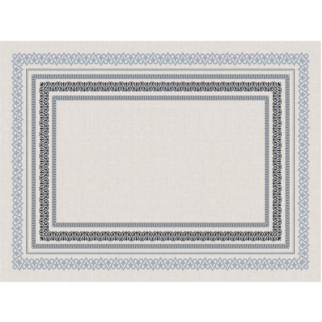 Contento Platzset »Matteo«, (Set, 4 St.), für den Innen- und Außenbereich, wasserabweisend, blau-naturweiß, 30x40 cm