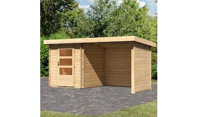 KONIFERA Set: Gartenhaus »Schloßsee 1«, BxT: 409x273 cm, mit Anbau inkl. Seiten -  und Rückwand kaufen