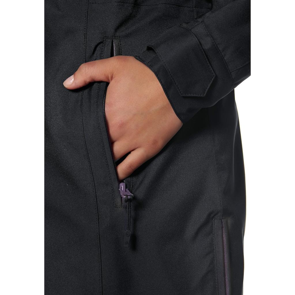 Polarino Funktionsjacke, Seitliche Schlitze mit Reißverschluss