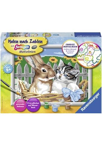 Ravensburger Malen nach Zahlen »Putzige Freunde«, Made in Europe, FSC® - schützt Wald... kaufen
