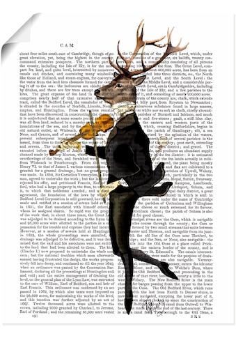Artland Wandbild »Tanzender Hirsch mit Violine«, Humor, (1 St.), in vielen Größen &... kaufen