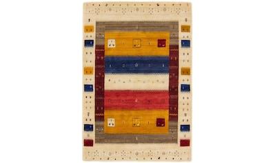carpetfine Wollteppich »Gabbeh Soni«, rechteckig, 15 mm Höhe, reine Wolle, sehr weicher Flor, Wohnzimmer kaufen