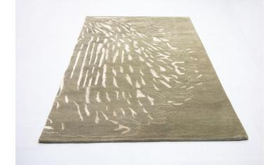 morgenland Wollteppich »Designer Teppich handgetuftet braun«, rechteckig, 18 mm Höhe kaufen