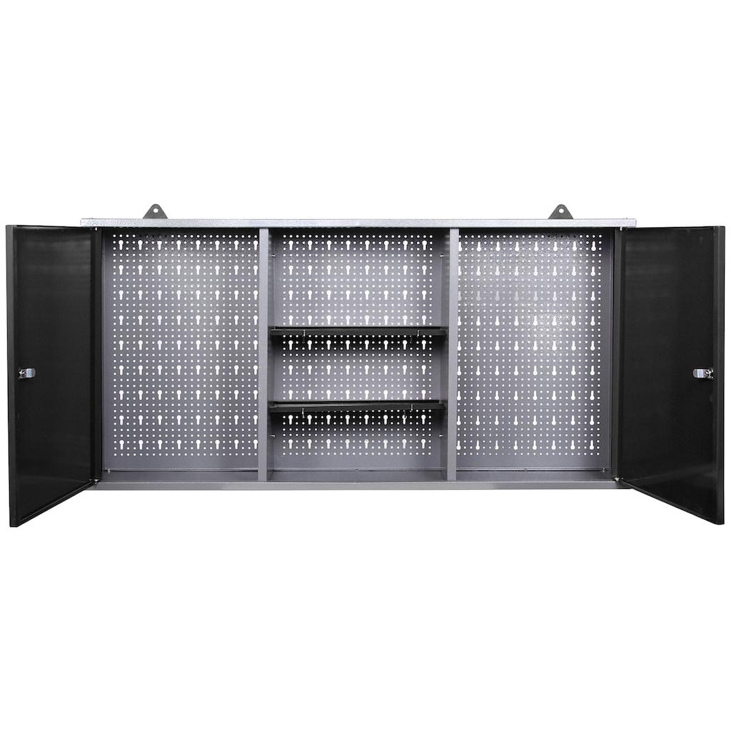 ONDIS24 Werkstatt-Set, inkl. Werkbank, Werkzeugschrank, Lochwand & 22-tlg. Hakenset