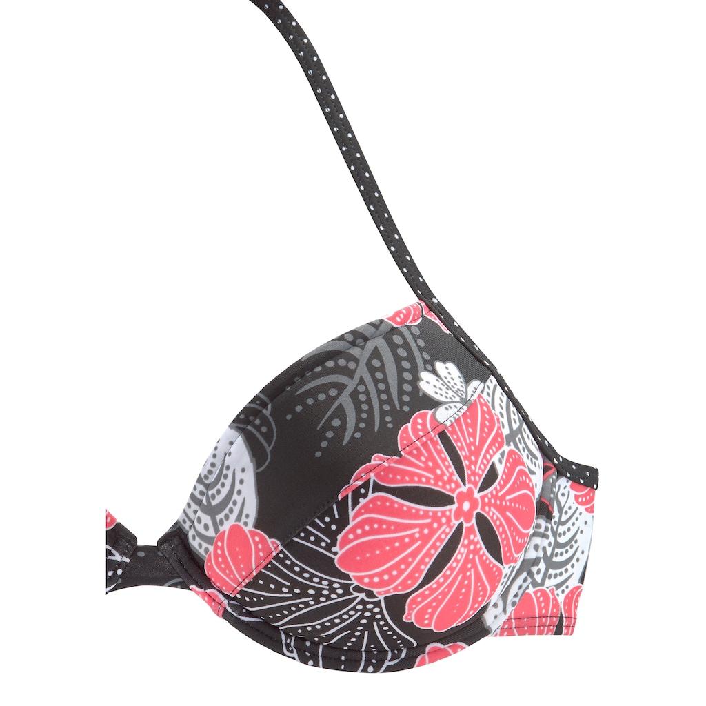Buffalo Push-Up-Bikini-Top »City«, im trendigen Flowerprint