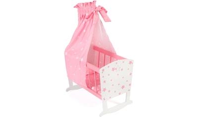 CHIC2000 Puppenwiege »Stars pink«, inkl. Himmel kaufen