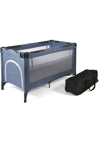 CHIC4BABY Baby - Reisebett, »Luxus, Jeans Blue« kaufen