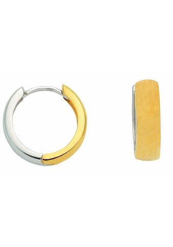 Adelia´s Paar Ohrhänger »585 Weißgold Ohrringe / Creolen Ø 13,8 mm«, 585 Gold... kaufen
