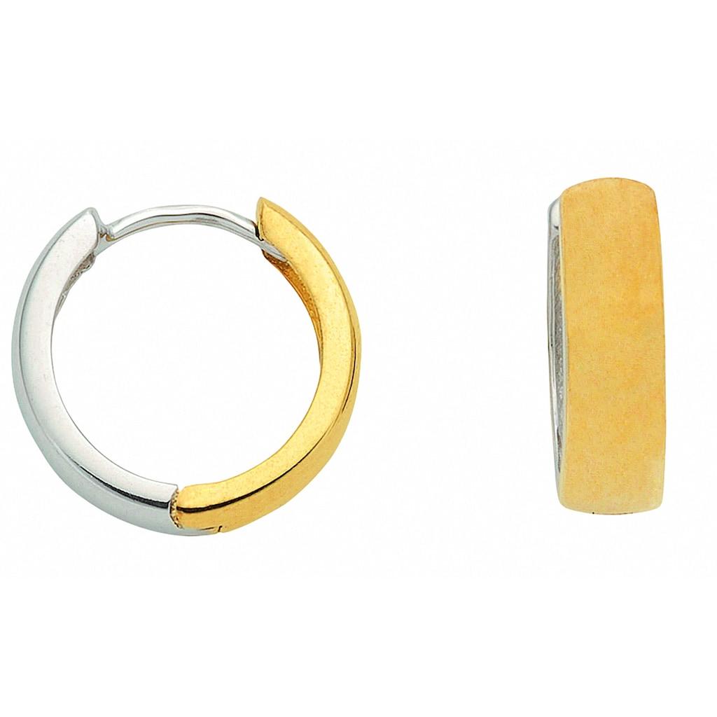 Adelia´s Paar Ohrhänger »333 Weißgold Ohrringe / Creolen Ø 13,8 mm«, 333 Gold Goldschmuck für Damen