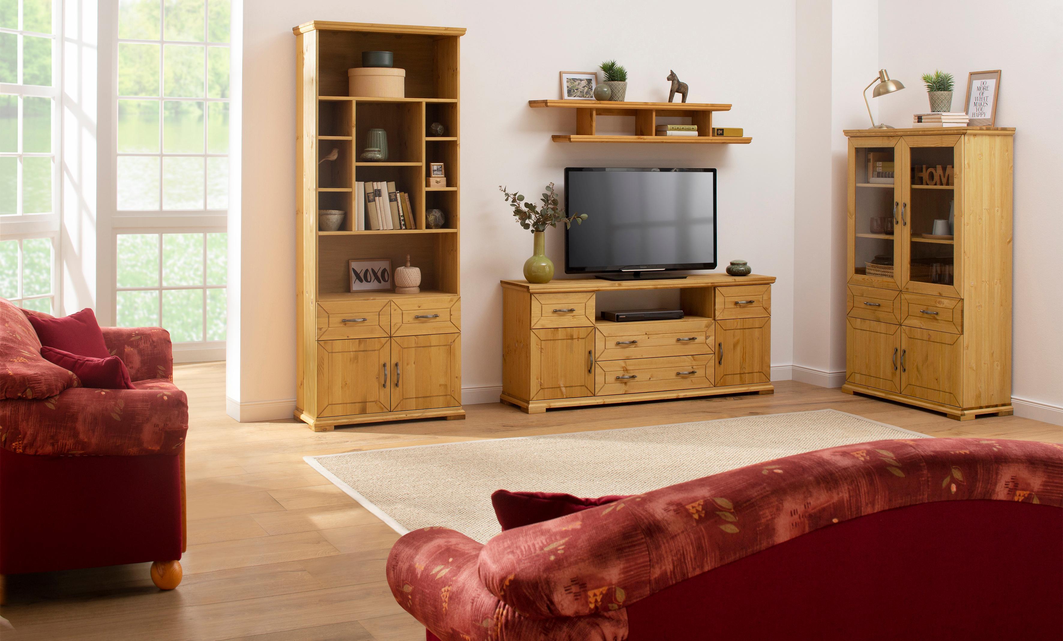 Home affaire TV-Lowboard Castello aus massiver Kiefer Breite 157 cm
