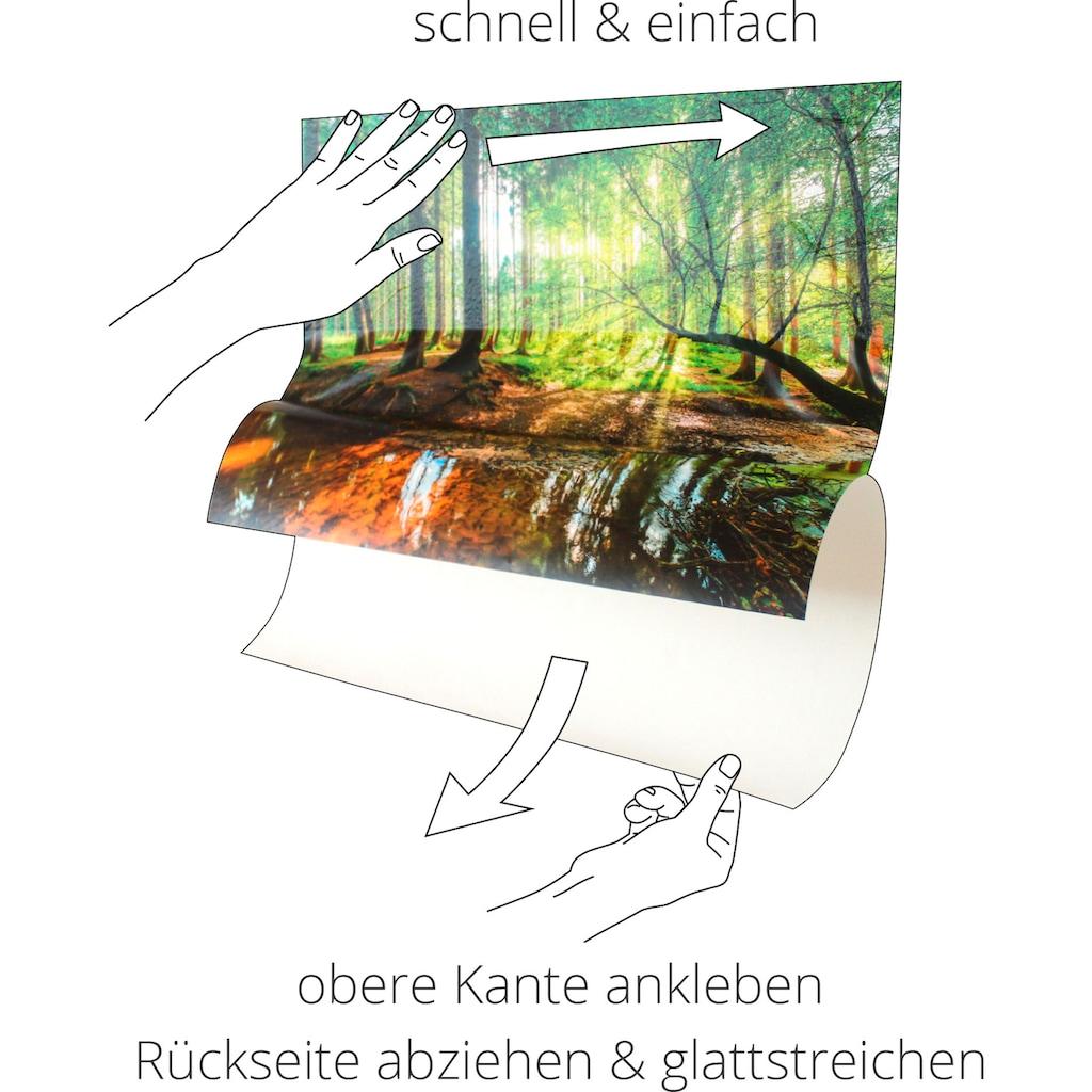 Artland Wandbild »Das Gartentor in Vetheuil«, Garten, (1 St.), in vielen Größen & Produktarten -Leinwandbild, Poster, Wandaufkleber / Wandtattoo auch für Badezimmer geeignet